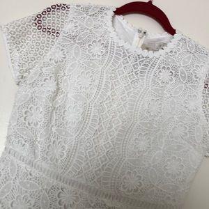 Loft Lace cap sleeve dress